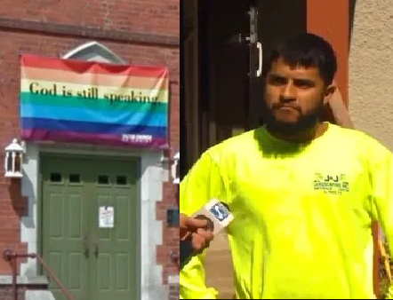 Man jailed for 16 years for pulling down gay flag and burning it