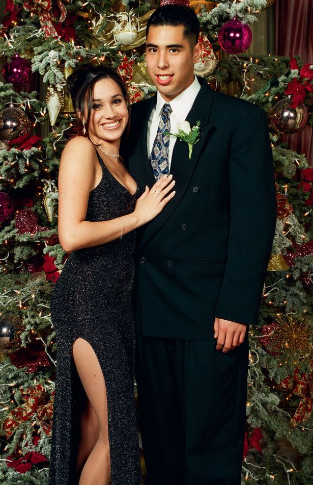 Adorable Christmas photos of 15-year-old Meghan Markle posing with friends and her first boyfriend