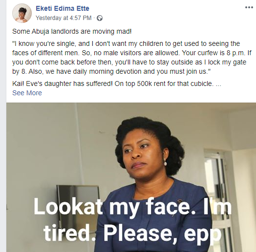 Nigerian lady recounts strict conditions attached to an Abuja house she wanted to rent