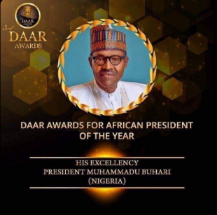 "DAAR Communications denies giving President Buhari the ""African President of the Year"" award, counters his media aide Bashir Ahmed"