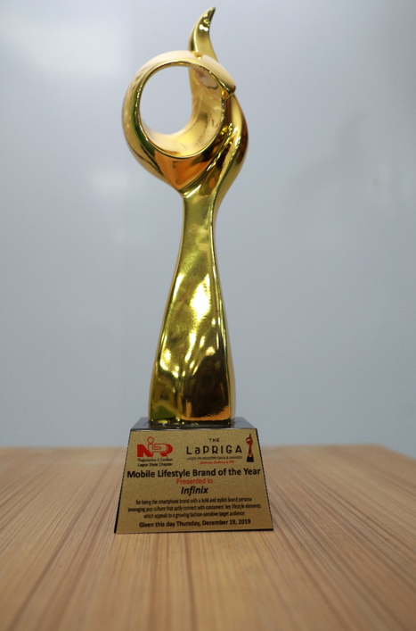 Infinix Mobility Wins Lapriga Mobile Lifestyle Brand of The Year 2019 Award