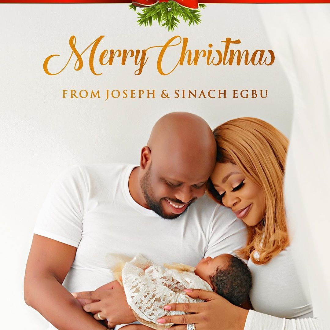Sinach with her hubby and their baby
