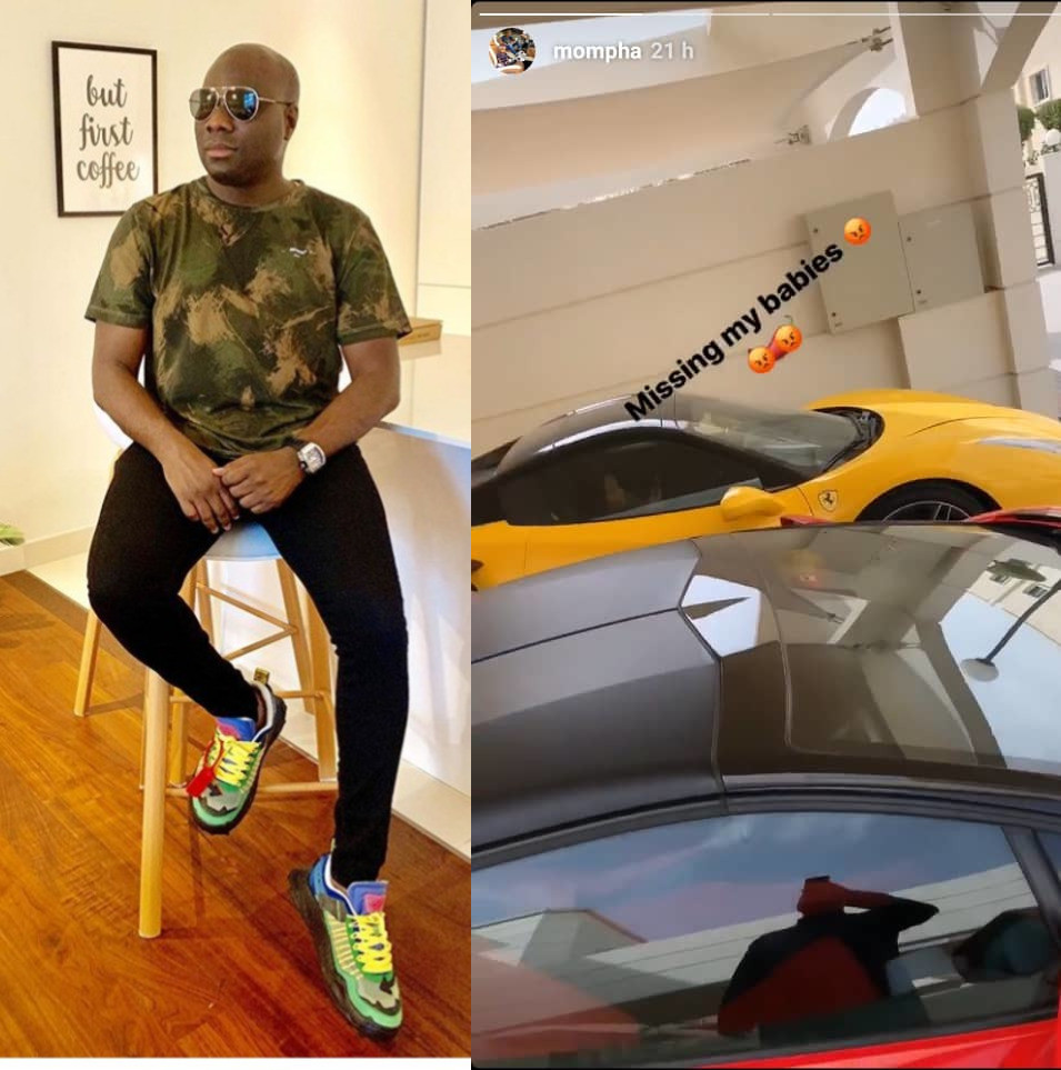 Mompha showing off again on IG after regaining his freedom from EFCC custody