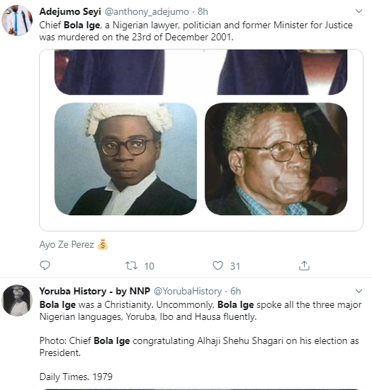Nigerians remember Chief Bola Ige 18 years after he was murdered