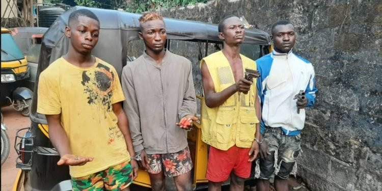 Four nabbed for robbing female tricyclist in Anambra