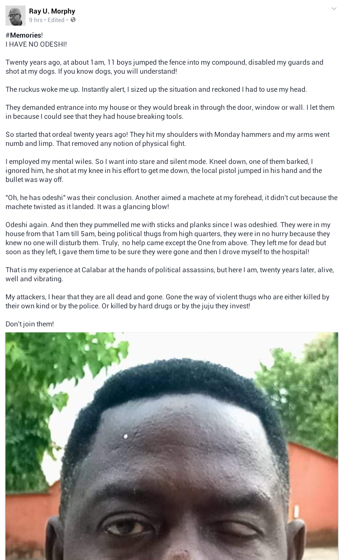 Nigerian man narrates how he was allegedly shot, attacked with machete, hammers, sticks by 11 hoodlums but the weapons didn