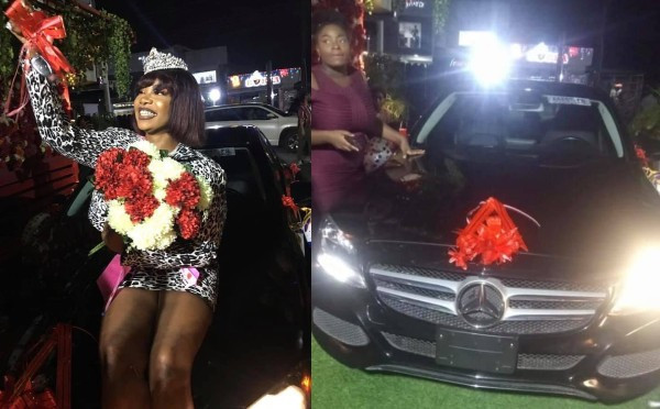 BBNaija's Tacha gets a car gift from her fans on her birthday (video)