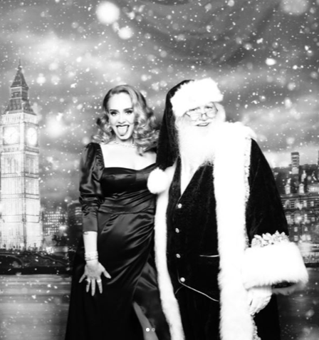 Adele looks almost unrecognizable as she shows off her new slimmer figure in lovely Christmas photos