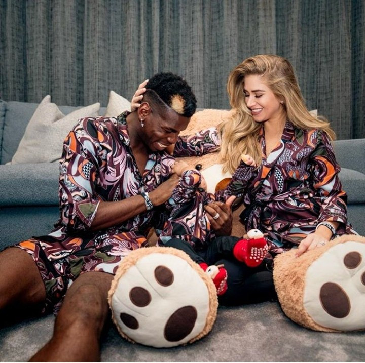 Paul Pogba condemns racism as he shares photo with his Caucasian partner and their child