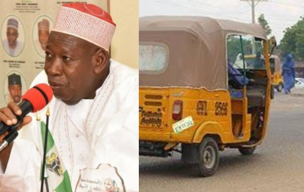 Governor Ganduje bans men and women from boarding same tricycle in Kano