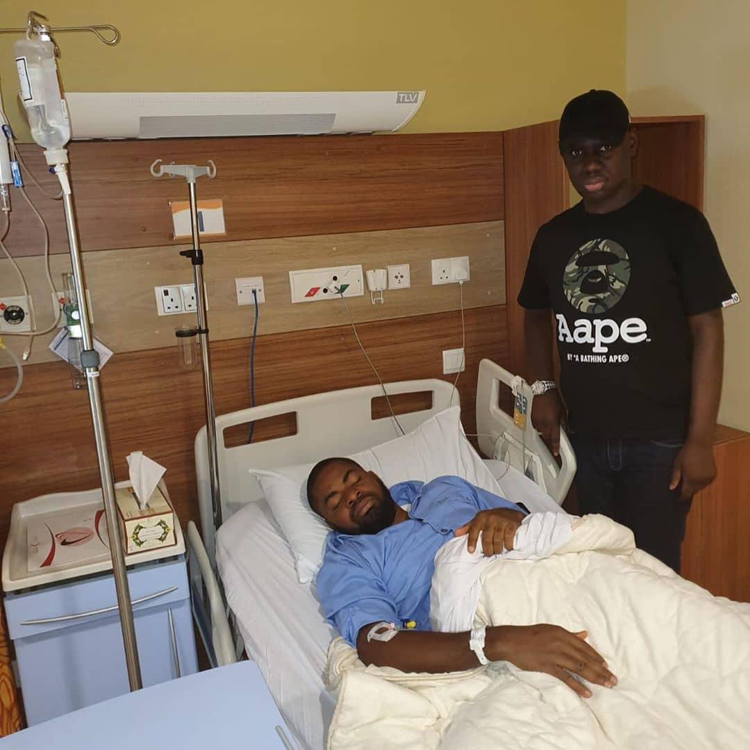Reno Omokri shares photos of activist, Deji Adeyanju, being treated in a Dubai-based hospital