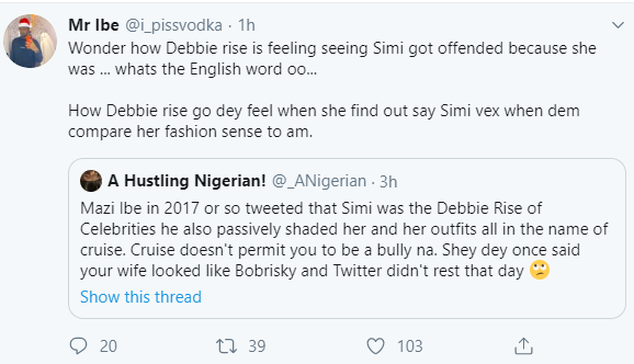Simi drags Twitter influencer Mazi after he kept trolling her on Twitter