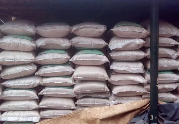 Nigerian Army intercepts bags of smuggled rice in Ebonyi State