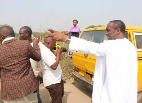 Lagos Deputy Governor arrests commercial bus drivers for driving against traffic (Photo)