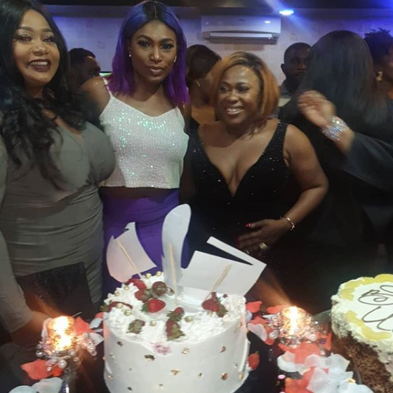 (Photos) Pregnant Mercy Johnson, Rita Dominic, Kate Henshaw, others turn up for Uche Jombo's 40th birthday party