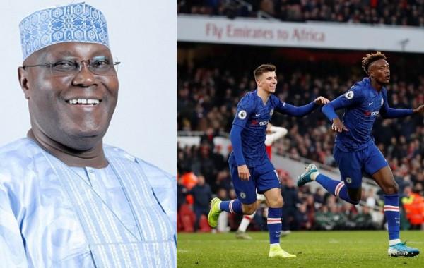 Between Atiku Abubakar and his son Mustapha after Chelsea and Arsenal