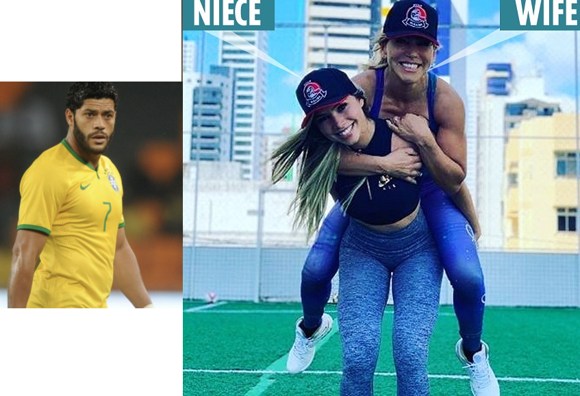 Brazilian football star Hulk reveals he is now dating the niece of his ex-wife after their divorce