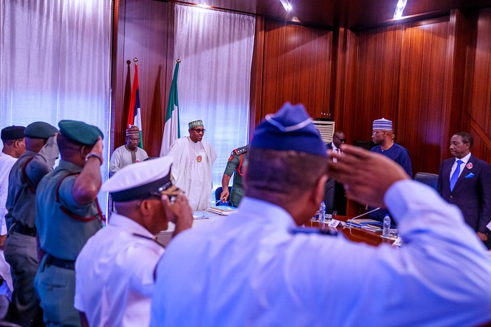 Buhari Holds Closed-Door Meeting With Security Chiefs In