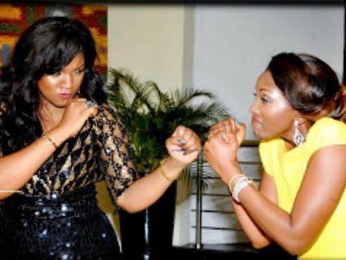 ''Childish rumor''- Omotola Jalade-Ekeinde dismisses claims that she and Genevieve Nnaji are sworn enemies