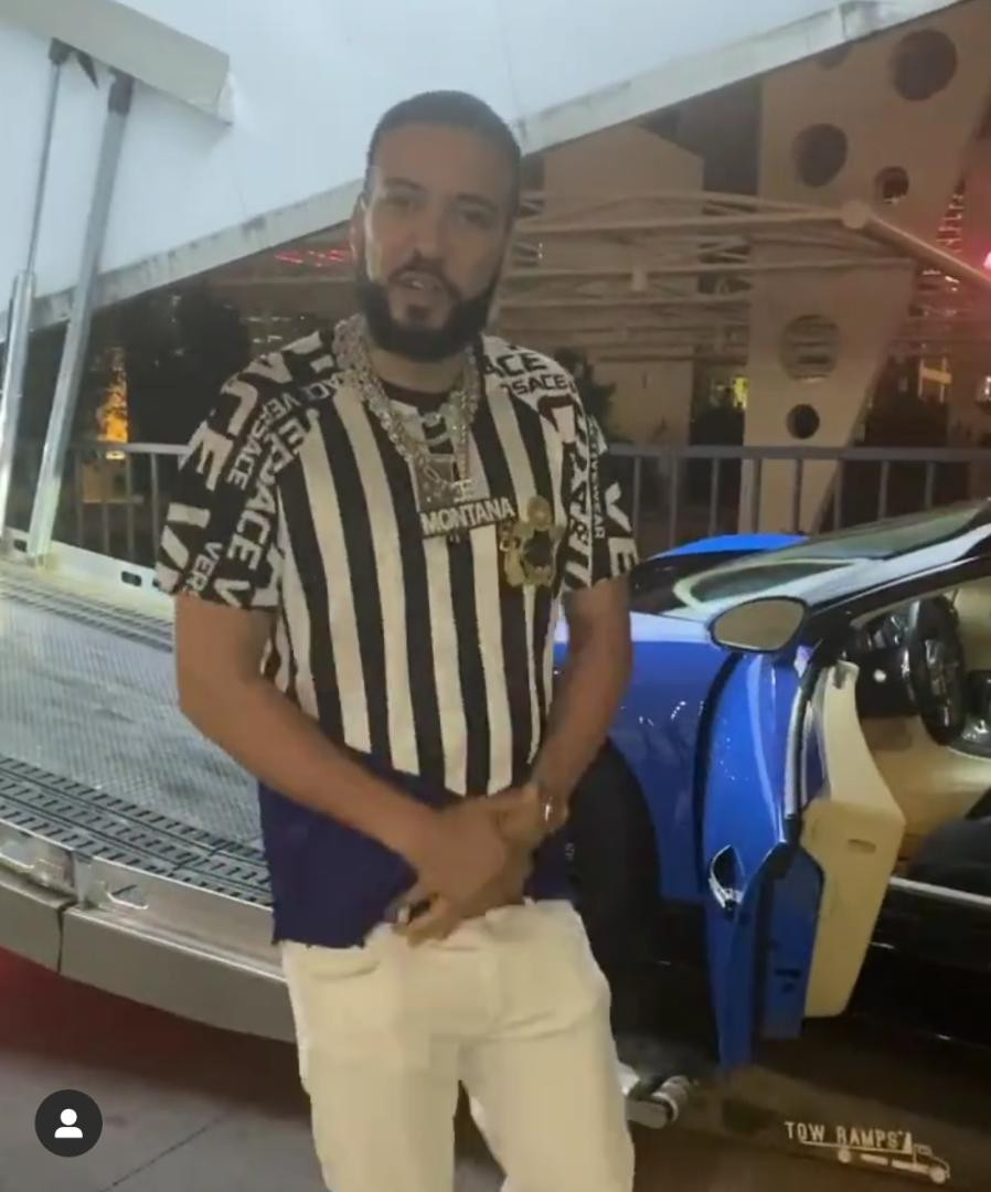 French Montana shows off his new Bugatti he just bought for $1.5m (Video)