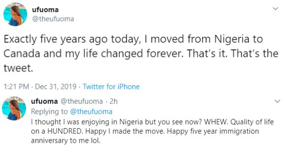 ''I moved from Nigeria to Canada and my life changed forever'' Nigerian lady celebrates five years of migration