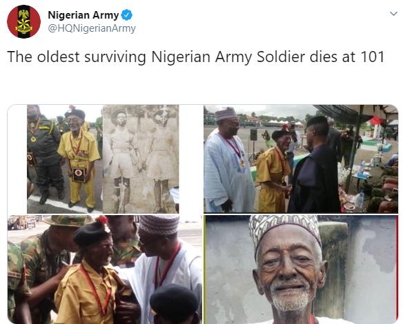 Oldest surviving Nigerian soldier dies at 101 (photos)
