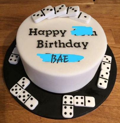 What I ordered vs what I got: Dice cake version