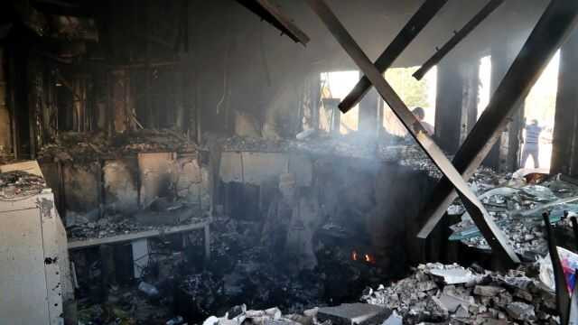 See the burned wreckage of US embassy after Iraq protest in Baghdad (photos)
