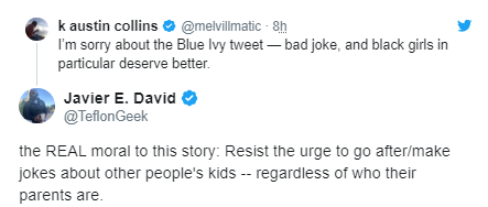 Vanity fair writer faces backlash after he and another journalist mocked Blue Ivy