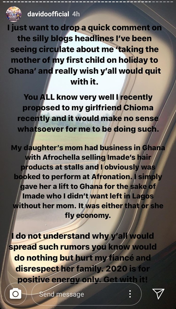 """We fly first or business class"" Sophia Momodu hits back after Davido said he flew her in a private jet so she doesn"