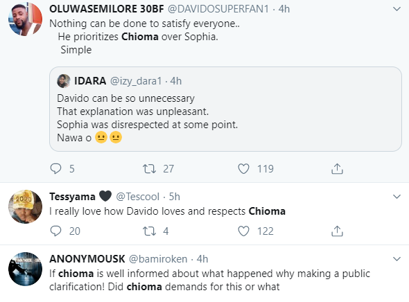 Here is how Nigerians are reacting to Davido and his babymama, Sophia Momodu