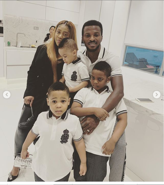 Nigerian striker Olarenwaju Kayode shares lovely photos of himself with his wife and sons