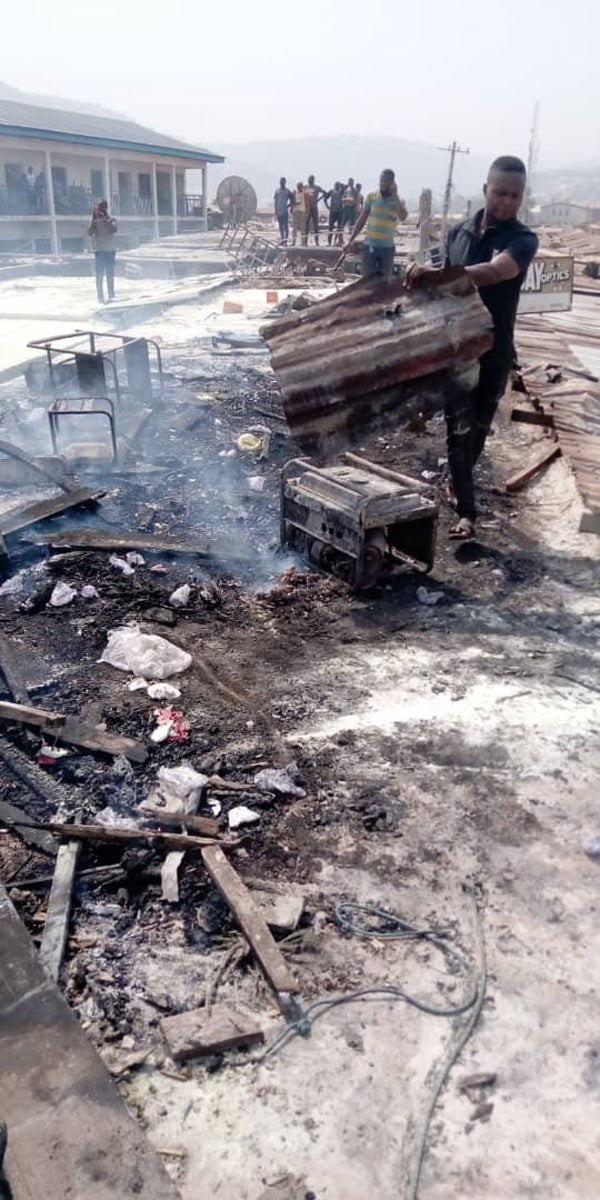 Fire guts Ogbete main market Enugu  (photos)