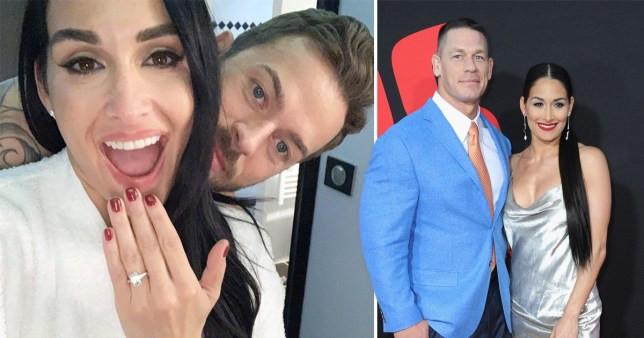 Nikki Bella engaged to Artem Chigvintsev after split from John Cena