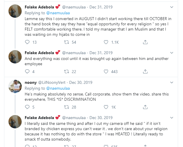 Nigerian Muslim lady narrates how she was sent home from work in US for wearing hijab (videos)