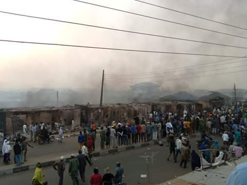 Angry mob sets Fire Station ablaze after fire guts popular market in Oyo