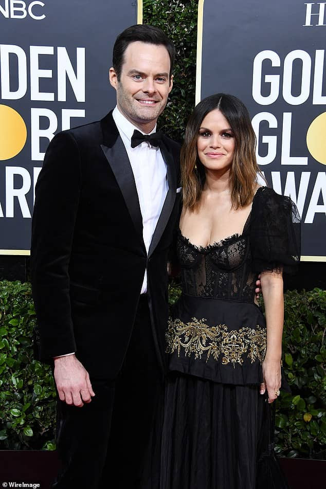 Actors Rachel Bilson and Bill Hader confirm their relationship by making their red carpet debut at the 2020 Golden Globes (photos)