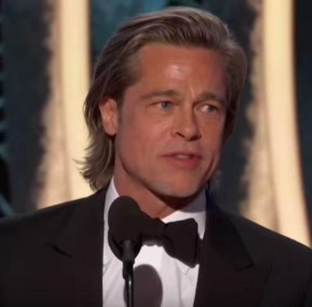 """""""Any woman I stand next to, they say I?m dating"""" - Brad Pitt says in his Golden Globes acceptance speech"""