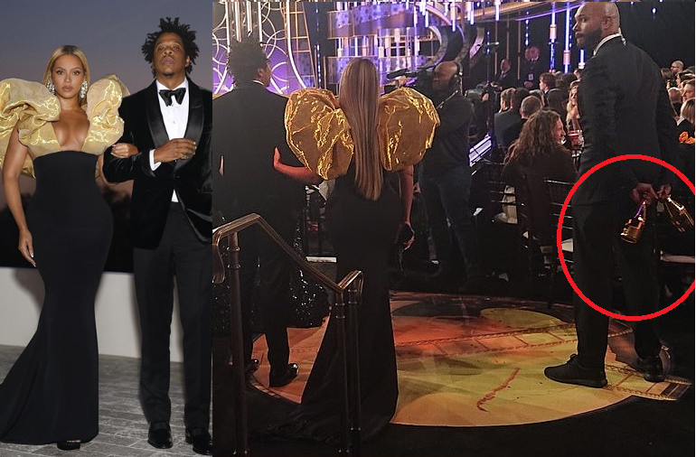 Beyonce and Jay-Z attend the Golden Globes award with their own expensive champagne (Photos)