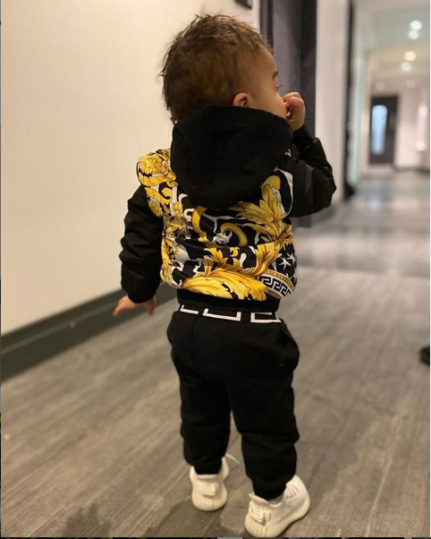 Paul Pogba and his partner Maria throw a Versace themed first birthday party for their son (photos)