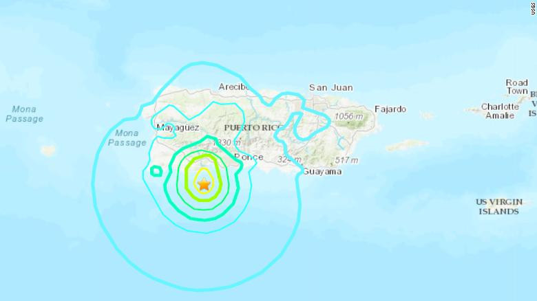 Puerto Rico hit by 5.8-Magnitude Earthquake with more tremors?still expected (See Photos/Video)