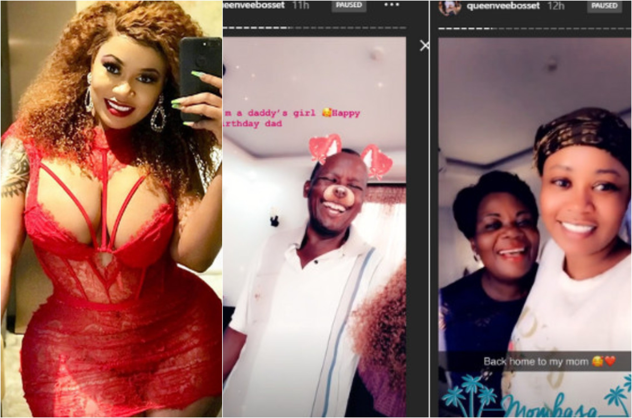 Vera Sidika shows off her father for the first time as he turns a year older