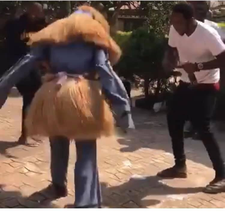 Anambra masquerades spotted doing the