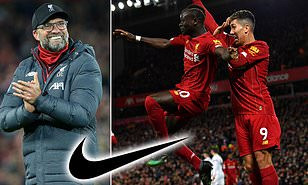 Liverpool announce record ?80m per year jersey deal with Nike, eclipsing Manchester United