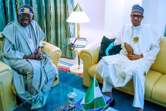 Tinubu meets Buhari in Abuja (photos)