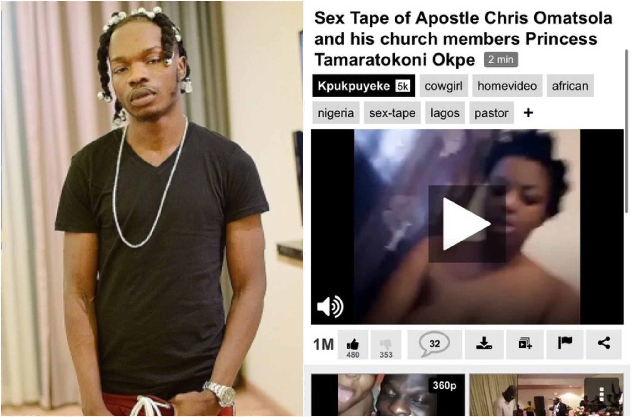 Naira Marley retweets a screenshot of the sex tape of Apostle Chris Omashola who called him a demon