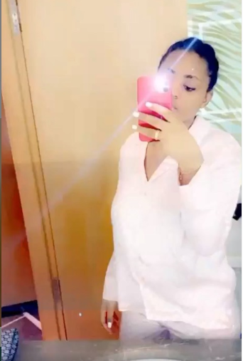 Regina Daniels sparks pregnancy speculation in bathroom videos