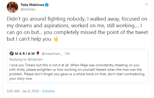 I walked away, focused on my dreams - Toke Makinwa reveals what she did after realizing her ex-husband Maje Ayida was consistently cheating on her
