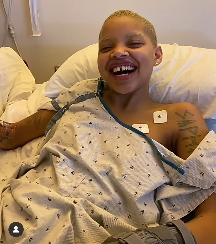 Model Slick Woods, who is battling cancer, reveals she suffered an unexpected seizure