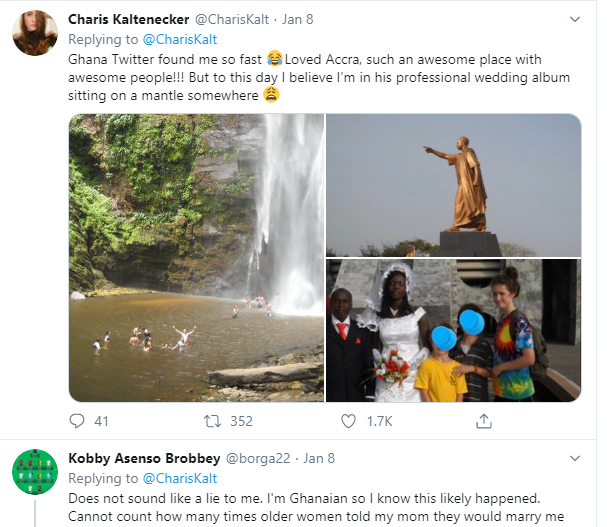 Caucasian lady narrates how a Ghanaian man stopped his wedding to ask her father to allow her marry him as a second wife